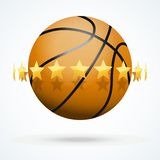Vector illustration of basketball ball with golden Stock Photos