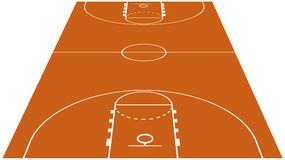 Vector Illustration of the Basketball Court Stock Image
