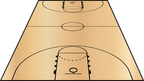 Vector Illustration of the Basketball Court Royalty Free Stock Images