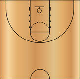 Vector Illustration of the Basketball Court Stock Photo