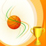 Basketball with Trophy Royalty Free Stock Images