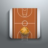 Vector Illustration Basketball icons Royalty Free Stock Image