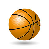 Vector illustration. Basketball. Stock Images
