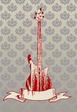 Vector illustration of bass guitar Stock Photography