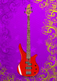 Vector illustration of bass guitar Royalty Free Stock Image
