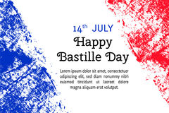 Vector illustration  for Bastille Day, French flag in trendy grunge style. Design template for poster, banner, flayer, greeting, i Stock Photo