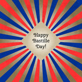 Vector illustration for Bastille Day, retro style greeting card. Design template for poster, banner, flayer, greeting. Vector illustration for Bastille Day Royalty Free Stock Photo