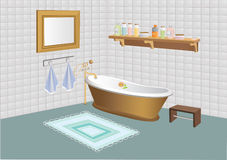 Vector illustration of bathroom Royalty Free Stock Photo