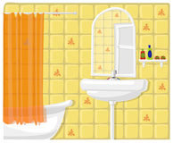 Vector illustration of bathroom Royalty Free Stock Photos