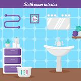 Bathroom interior in cartoon style. royalty free illustration