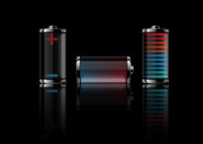 vector illustration a battery Royalty Free Stock Photo