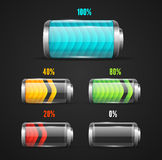 Vector illustration of Battery level indicator Stock Photos