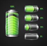 Vector illustration of Battery level indicator Stock Images
