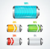 Vector illustration of Battery level indicator Royalty Free Stock Photos