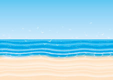 Vector illustration. Beach. Royalty Free Stock Photo