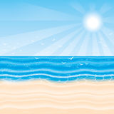Vector illustration. Beach. Royalty Free Stock Image