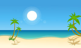 Vector illustration of beach scenery Stock Photo