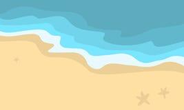 Vector illustration of beach scenery Royalty Free Stock Photos