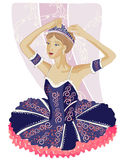 Ballerina Black Stock Image