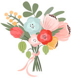 Vector illustration of beautiful bridal bouquet Stock Image