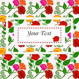 Vector illustration of beautiful colorful flowers. Stock Photos