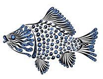 Decorative fish carp. Vector illustration of a beautiful decorative fish crucian Stock Photos