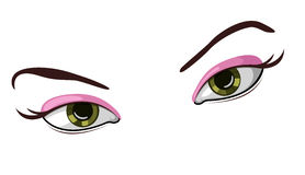 Vector illustration of beautiful eyes Stock Photography