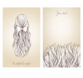 Vector illustration of  beautiful female hairstyle. Royalty Free Stock Photos