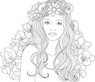 Girl Coloring Pages Stock Illustrations 788 Girl Coloring Pages