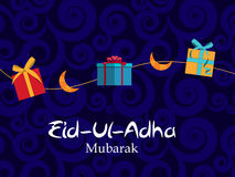 Vector Illustration of Beautiful Greeting Card Design  'Eid Adha. ' (Festival of Sacrifice) EPS10 Royalty Free Stock Images