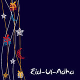 Vector Illustration of Beautiful Greeting Card Design  'Eid Adha. ' (Festival of Sacrifice) EPS10 Stock Images