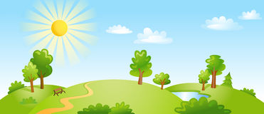 Vector illustration of beautiful landscape Royalty Free Stock Images