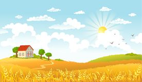 Vector illustration of beautiful landscape Stock Images