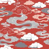 Vector illustration of beautiful lunar twilight with colourful coral, pink, orange clouds and sky vector illustration