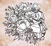 Vector illustration of a beautiful mind metaphor. Royalty Free Stock Photo