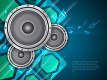Beautiful music theme modern designed background w Royalty Free Stock Photo