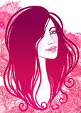 Vector illustration of beautiful woman Royalty Free Stock Images