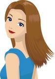 Beautiful Woman. Vector illustration of a beautiful woman Royalty Free Stock Photos