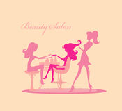 Vector illustration of the beautiful woman in beau Royalty Free Stock Photo