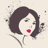 Vector illustration of beautiful woman. Stock Photography