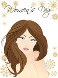 Vector illustration of a beautiful women face. Stock Photos