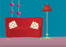 Vector illustration of bedroom Stock Photography
