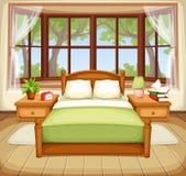 Bedroom interior. Vector illustration. Stock Photography