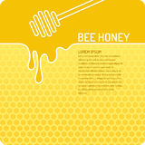 Vector illustration Bee honey. Stylish and modern background for bee products. Vector illustration Royalty Free Stock Photos