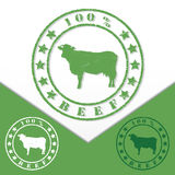 Grunge beef stamp Royalty Free Stock Images