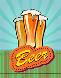 Vector illustration of beer against the backdrop Stock Image