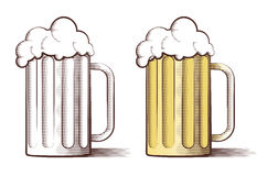 Vector illustration of beer in engraved style Stock Photo