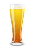Vector illustration of a beer glass stock image
