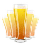 Vector illustration of beer glasses Stock Photography