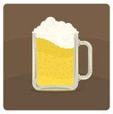 Vector illustration of beer mug Stock Photography